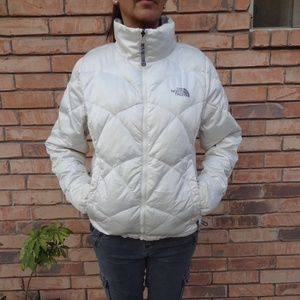 Women's The North Face Pearl White Down Jacket M